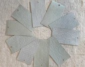 "Embossed Paint Chip Sample Bundle - 3x5.5"" - 10 Pieces- Pale Blue - Cardmaking, Junk Journals, Collage, Mixed Media - PA17"