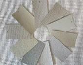 "Embossed Paint Chip Sample Bundle - 3x5.5"" - 10 Pieces- Gray, Taupe - Cardmaking, Junk Journals, Collage, Mixed Media - PA19"