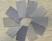 "Embossed Paint Chip Sample Bundle - 3x5.5"" - 10 Pieces- Periwinkle Blue Purple - Cardmaking, Junk Journals, Collage, Mixed Media - PA27"