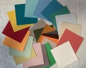 "Paint Chip Swatch Samples - 4""x4"" - Set of 24 - Junk Journal Mixed Media PA02"