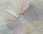 "Embossed Paint Chip Sample Bundle - 3x5.5"" - 10 Pieces- Pastel Shades - Cardmaking, Junk Journals, Collage, Mixed Media - PA29"
