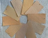 "Embossed Paint Chip Sample Bundle - 3x5.5"" - 10 Pieces- Peach Shades - Cardmaking, Junk Journals, Collage, Mixed Media - PA32"