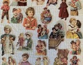 Vintage Reproduction Victorian Scrap Cutouts - 21 Pieces - Junk Journals, Collage, Cardmaking, Mixed Media, Altered Art - EA15