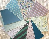 """Blue DIY Junk Journal Kit - 5""""x7"""" - Everything to Create your Own - Pre-punched Covers & Pages, 5oz Embellishments, Binding Rings, JA13"""