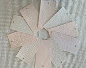 "Embossed Paint Chip Sample Bundle - 3x5.5"" - 10 Pieces- Pale Pink - Cardmaking, Junk Journals, Collage, Mixed Media - PA22"
