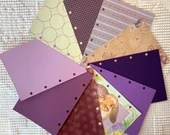 """Purple DIY Junk Journal Kit - 5""""x7"""" - Everything to Create your Own - Pre-punched Covers & Pages, 5oz Embellishments, Binding Rings, JA11"""