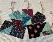 Junk Journal Tags Upcycled from Cutter Quilt Remnants & Paint Chip Samples AD05