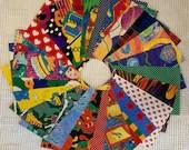 "Vintage Wrapping Paper Bundle - 22 Pieces - 5""x7"" - Children, Kids - Cardmaking, Junk Journals, Scrapbook, Collage, Mixed Media- EB12"