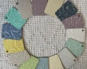 Italian Laminate Sample Chips - Set of 15 - Mixed Media, Altered Art - Junk Journal Tags PA08