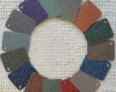 Italian Laminate Sample Chips - Set of 15 - Mixed Media, Altered Art - Junk Journal Tags PA07