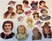 Vintage Reproduction Victorian Scrap Cutouts - 16 Pieces - Junk Journals, Collage, Cardmaking, Mixed Media, Altered Art - EA16