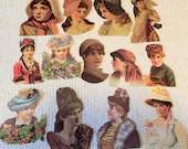 Vintage Reproduction Victorian Scrap Cutouts - 13 Pieces - Junk Journals, Collage, Cardmaking, Mixed Media, Altered Art - EA17