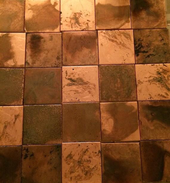 copper tile 1 sq foot etsy