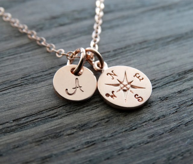 Compass Necklace Graduation Gifts College Graduation Gift Compass Pendant Best Friend Gift Rose Gold Necklace Personalized Graduation