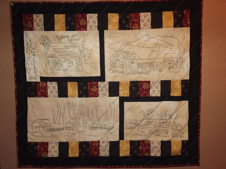 Civil War Stitchery Quilt Pattern Slave Quarters Set One
