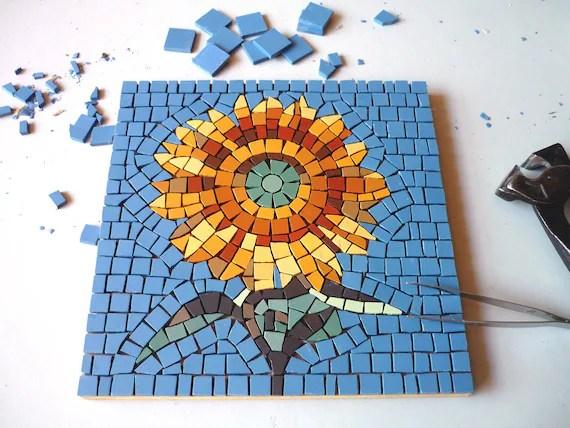 Kit Mosaico Fai Da Te Girasole