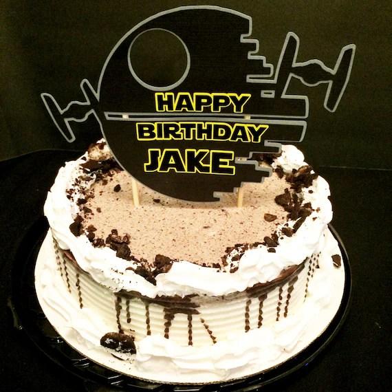 Star Wars Death Star Tie Fighter Birthday Cake Topper Etsy