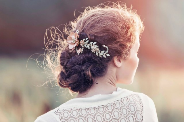 romantic decorative wedding hair adornment, wedding headpiece, bridal headpiece, adelaide bridal hair vine #gd1029
