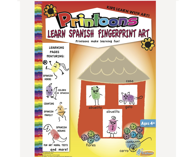 Spanish Learning Thumbprint Art Spanish Worksheets Home