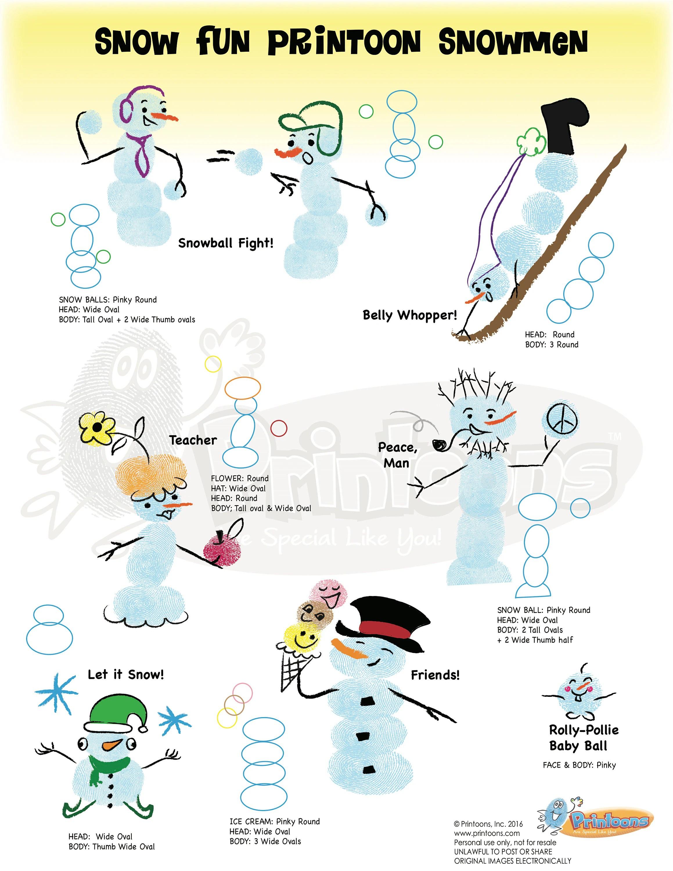 Snowman Story Amp Crafts Fingerprint Art Snowman Diy
