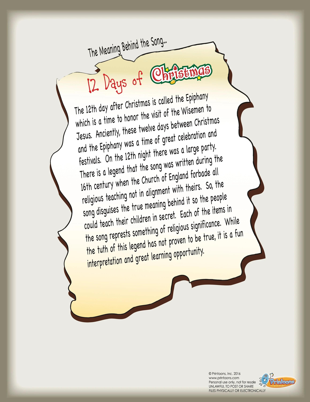 Christmas 12 Days Fingerprint Art Religious Christmas Diy