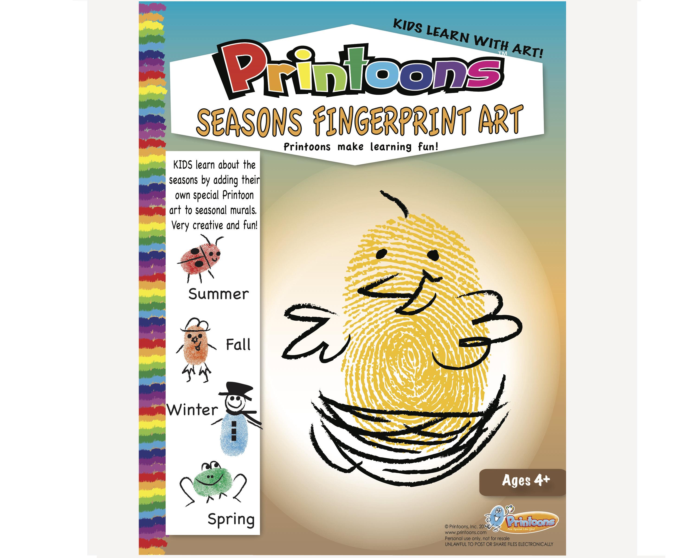 Seasons Learning Thumbprint Art Seasons Worksheets