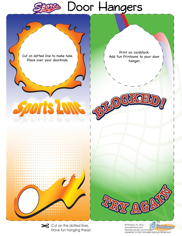 Sports Thumbprint Crafts Sports Digital Download