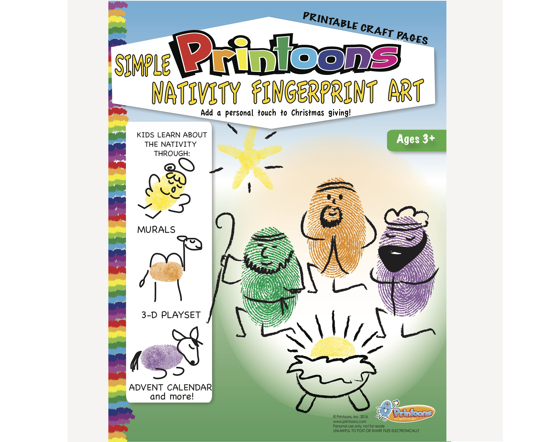 Manger Thumbprint Art Nativity Diy Nativity Fingerprint