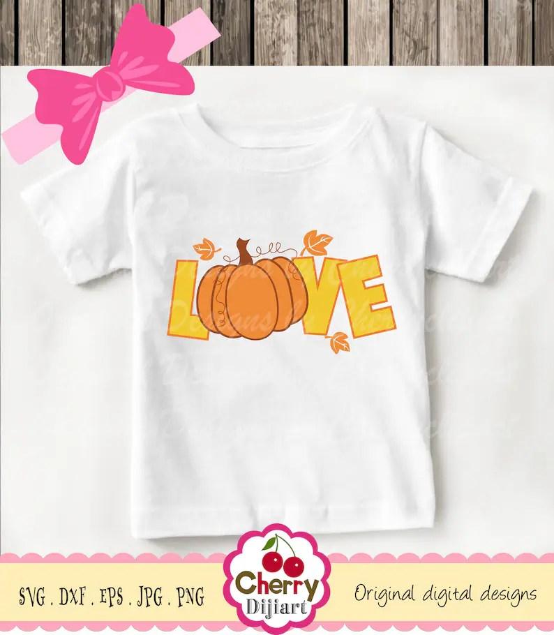 Download Thanksgiving LOVE pumpkin Svg Dxf Fall Pumpkin Silhouette ...