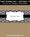 Black And White Candy Bar Wrapper Template Damask Chocolate Etsy