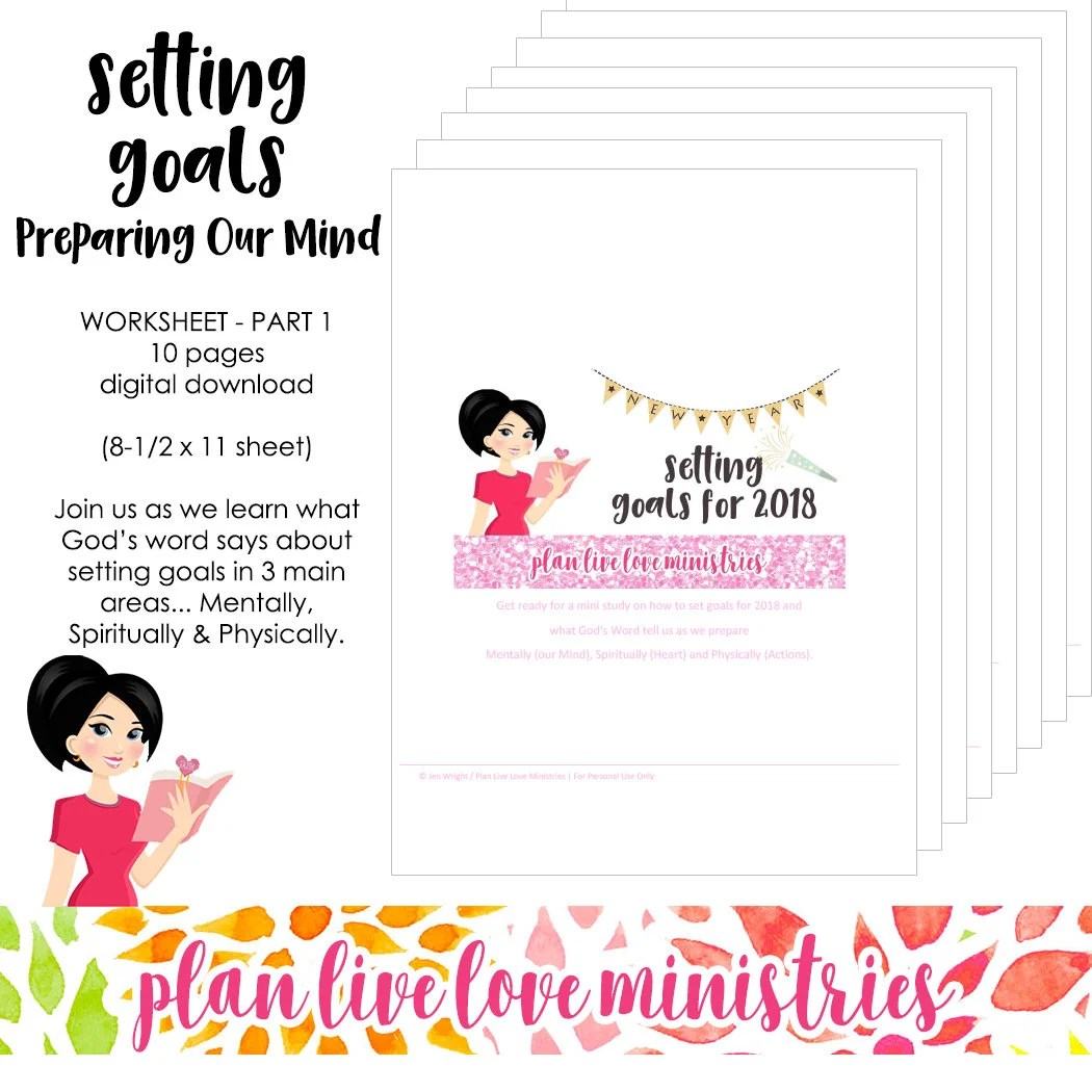Setting Goals Worksheet Part 1 Preparing Our Mind 10 Page