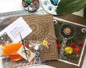 Fantastic Flowers Mini Art Kit