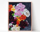 Bouquet Painting, Digital download, Printable original art, Digital 8x10 art printable