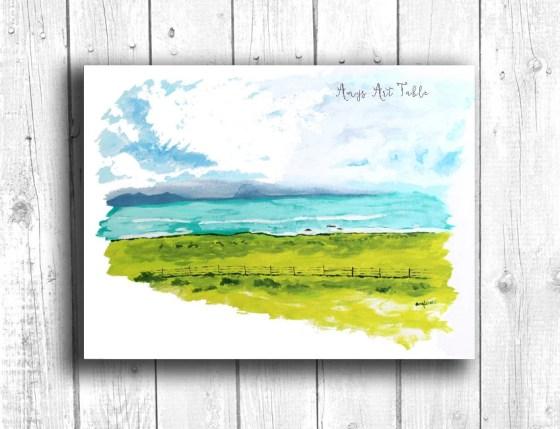 Coastal painting, Digital...