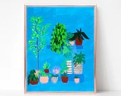 Potted Plants Painting Di...