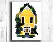 Building Print, Yellow Ho...