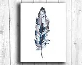 Feather Painting Digital Download, Printable Feather Art, Digital 8x10 Art Printable, Printable Feather Art, Feather Digital Art