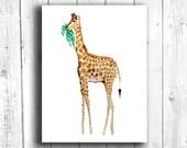 Giraffe Painting, Digital...