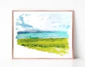 Coastal painting, Digital download, Printable original art, Digital 8x10 art printable
