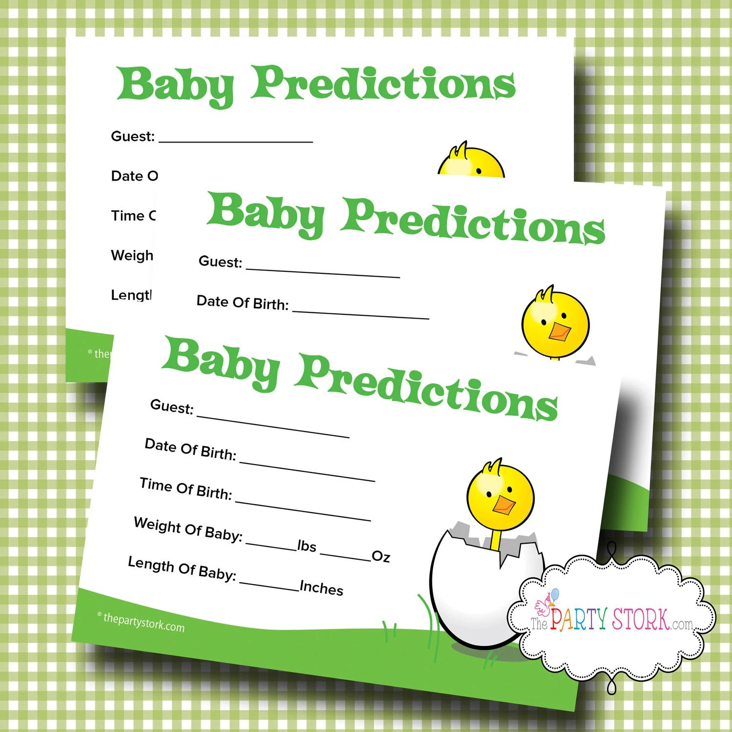 Printable Baby Shower Prediction Game Baby Shower