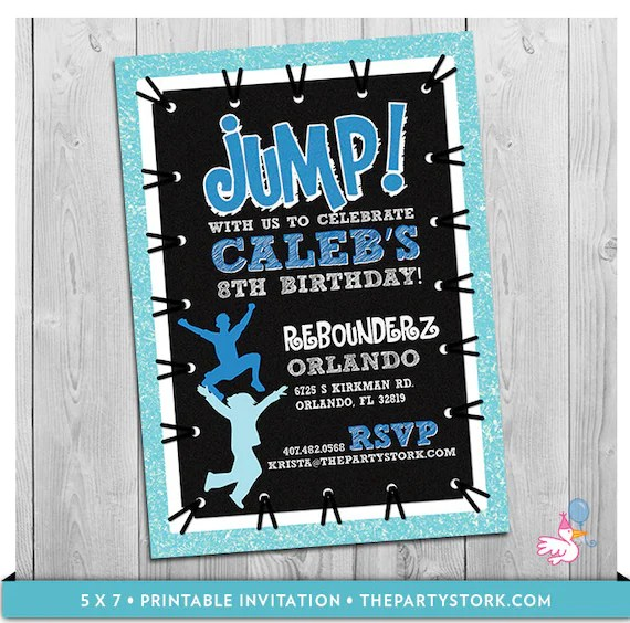Printable Jump Invitations