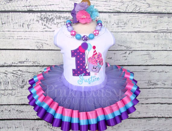 Our Lil Cupcakes 1st Birthday Outfit Pink Purple Blue Etsy