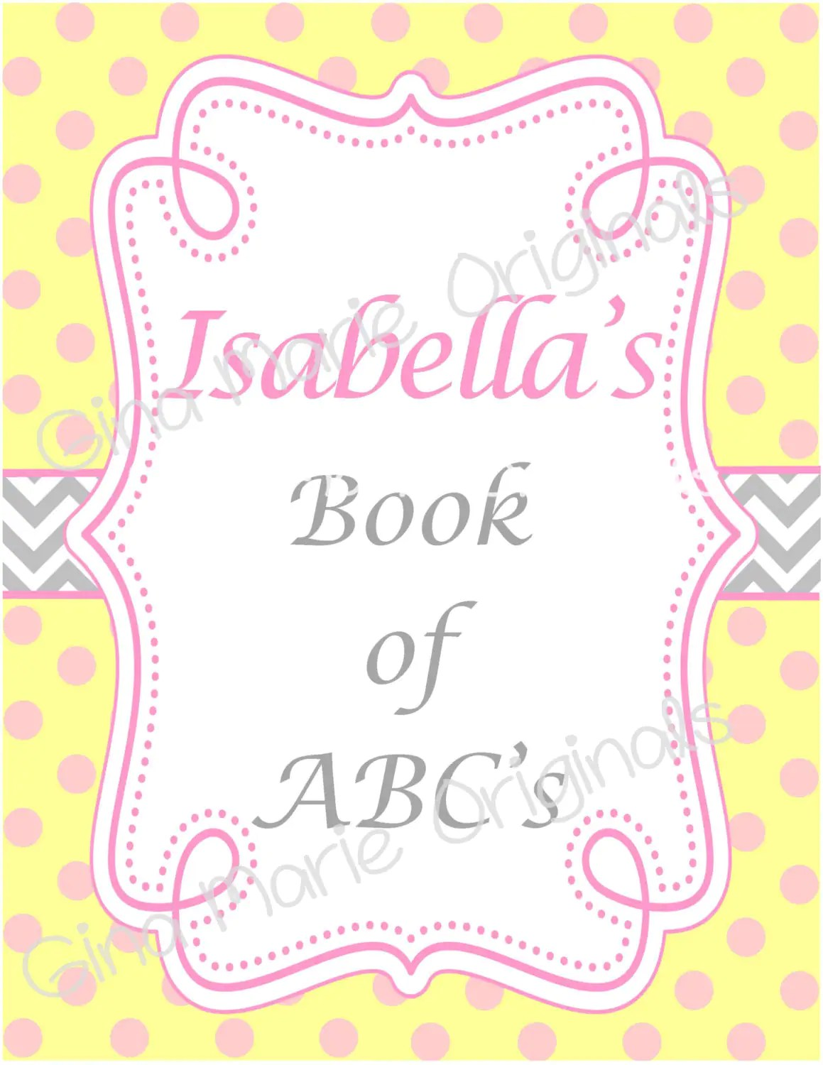 Personlized Printable Baby Shower Abc S Activity Book In