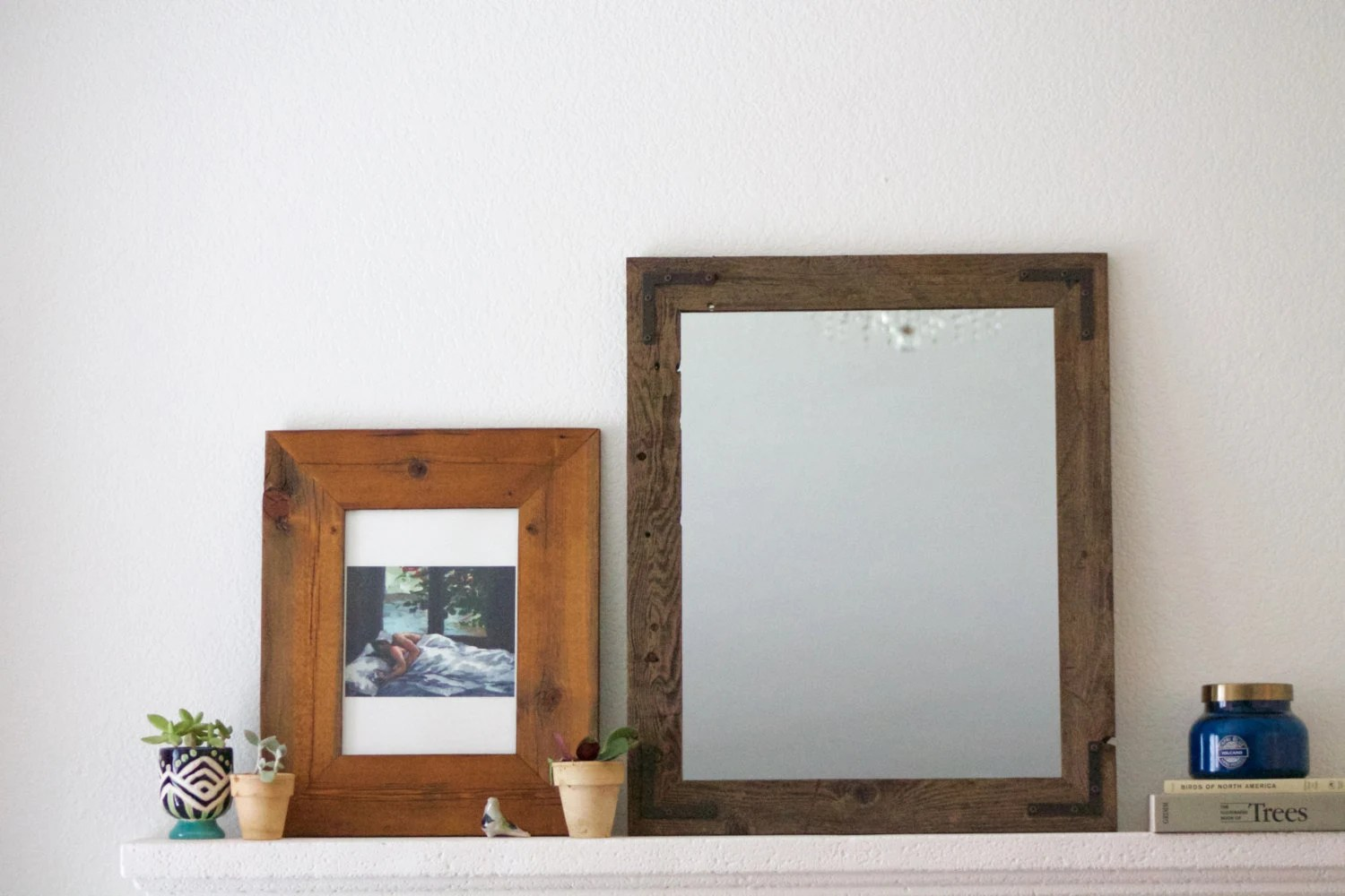 Set Of Mirrors Mirror Set Wood Mirrors Rustic Mirrors Wall
