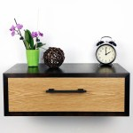 Floating Nightstand Nightstand With Drawer Nightstand Modern Modern Bedside Table Scandinavian Wall Mounted Nightstand Black Walnut Wood