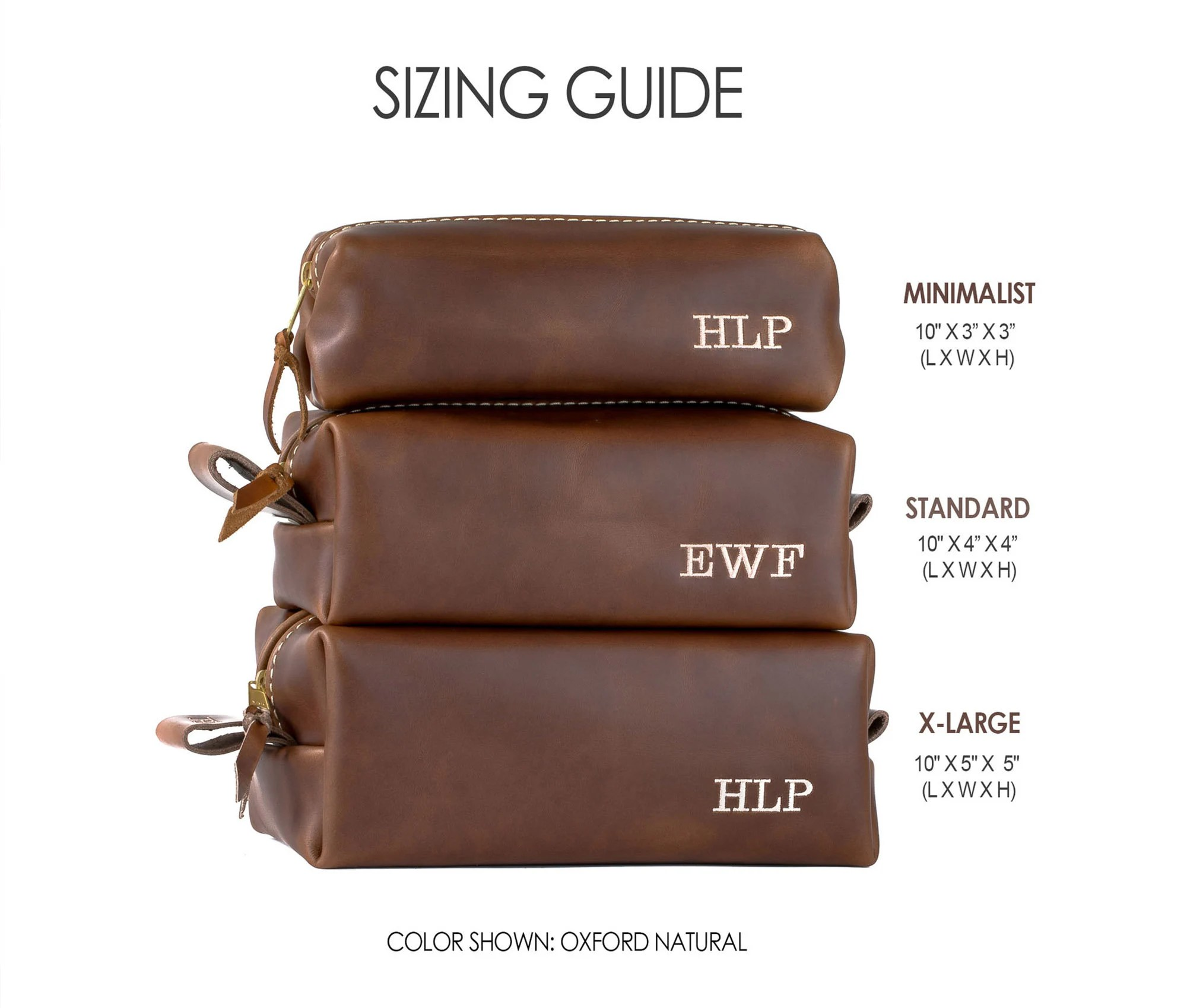 Personalized Leather Dopp Kit Bag Leather Toiletry Bag image 7
