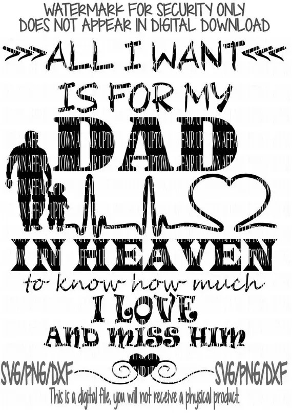 Download Download Dad In Heaven Svg for Cricut, Silhouette, Brother ...
