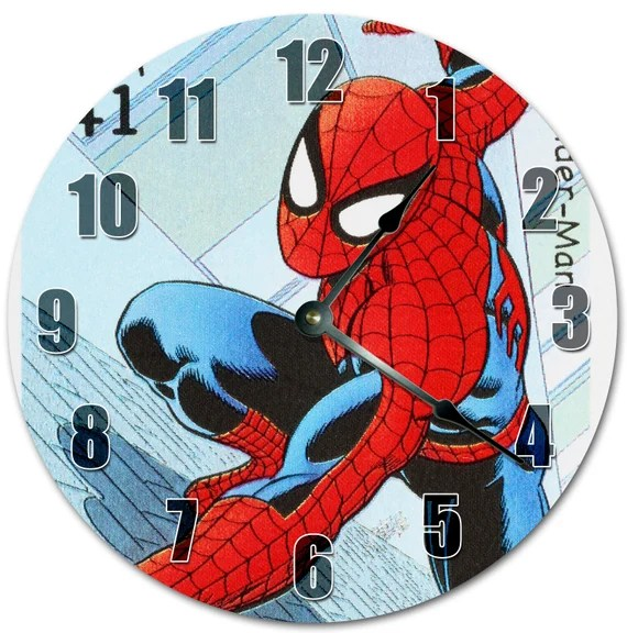 10 5 Spiderman Cartoon Kids Clock Living Room Clock Etsy