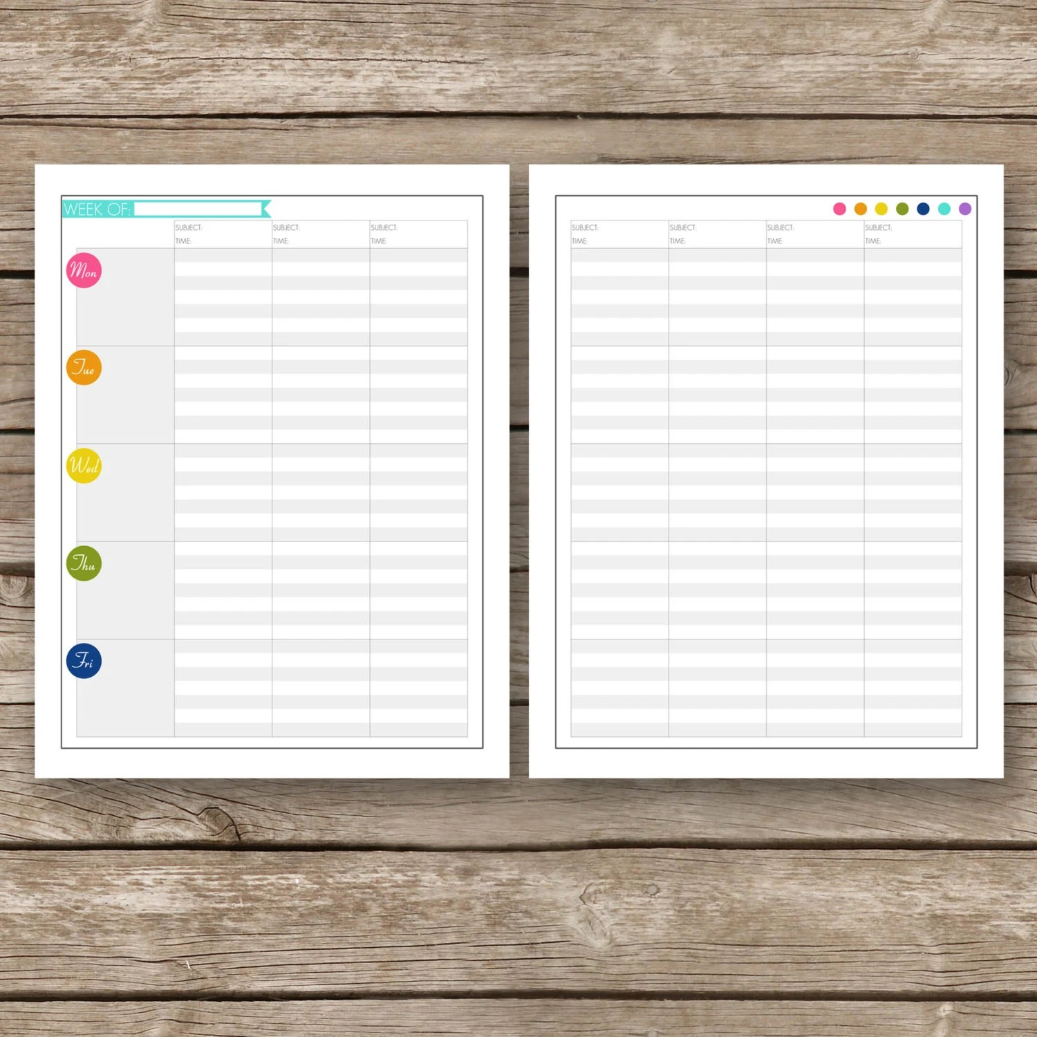 Printable Lesson Planner Pages Teacher Home School Day