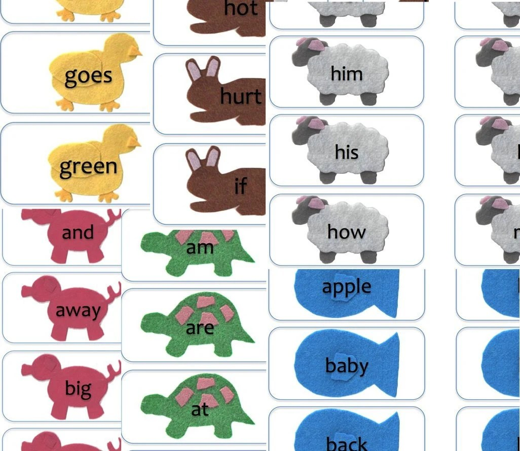 Sight Word Flash Cards All Dolch Words Reading Kit For